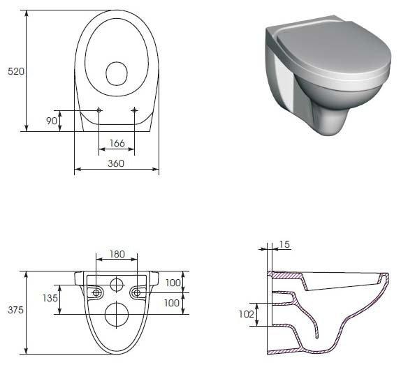 Подвесной унитаз Cersanit DELFI soft close (микролифт)