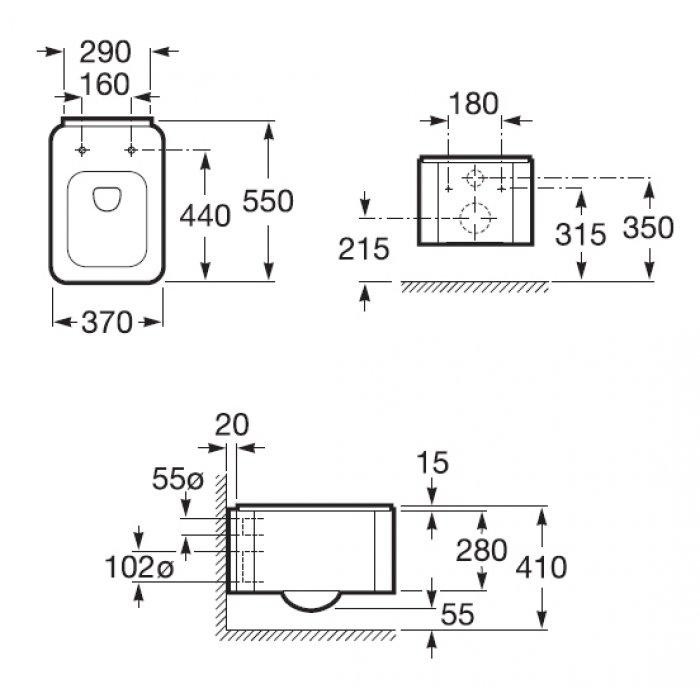 Подвесной унитаз Roca Element soft close (микролифт)