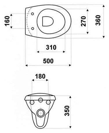 Подвесной унитаз HYBNER NEPTUN soft close (микролифт)