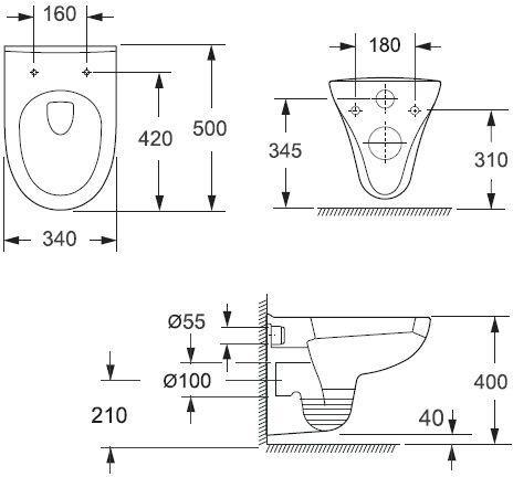 Подвесной унитаз IDDIS Neofix soft close (микролифт)