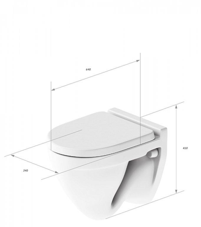 Подвесной унитаз Sanita Luxe™ Attica Luxe soft close (микролифт)