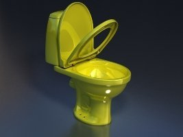 Унитаз-компакт STYLE (желтый 45°и 90°)