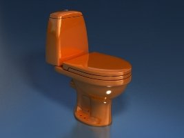 Унитаз-компакт STYLE (оранжевый 45°и 90°)