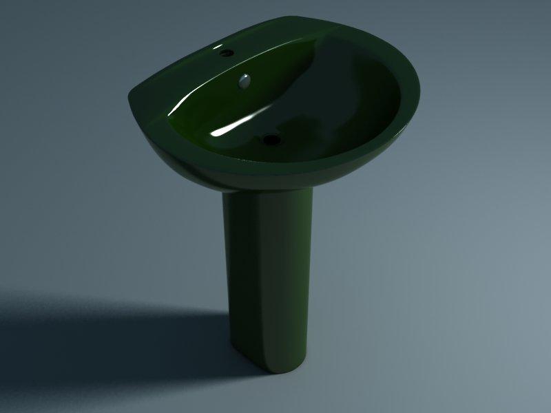 Умывальник с пьедесталом STYLE (зеленый)
