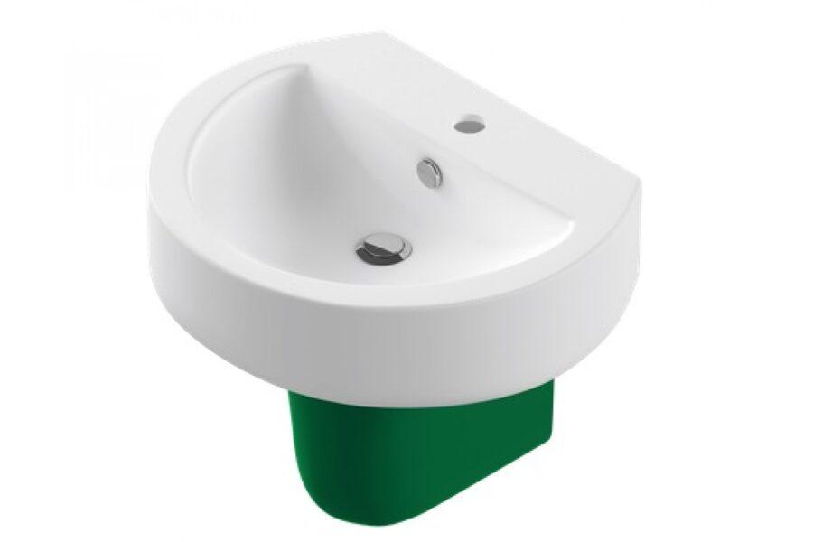 Умывальник с полупьедесталом (тюльпан) Sanita Luxe Best Color Green (Зеленый)