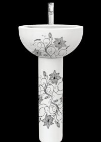 Умывальник с пьедесталом Sanita Luxe™ Art Luxe Flora