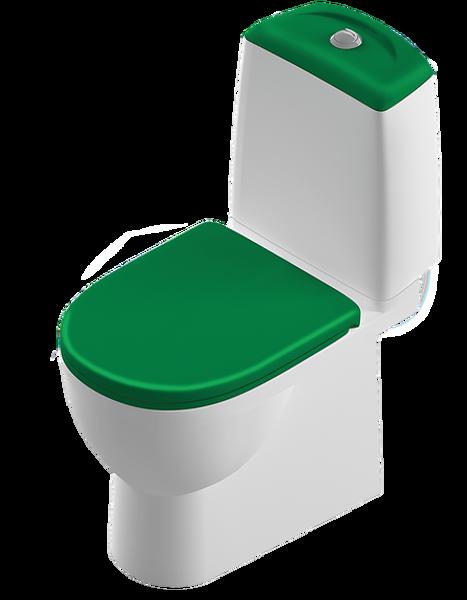 Унитаз-компакт Sanita Luxe Best Color Green (Зеленый) сиденье микролифт
