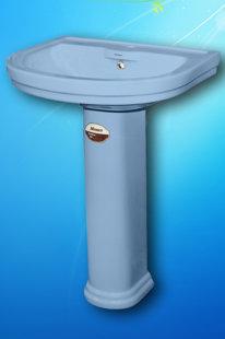 Умывальник с пьедесталом Monaco (голубой)
