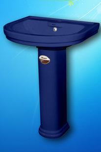Умывальник с пьедесталом Monaco (синий)