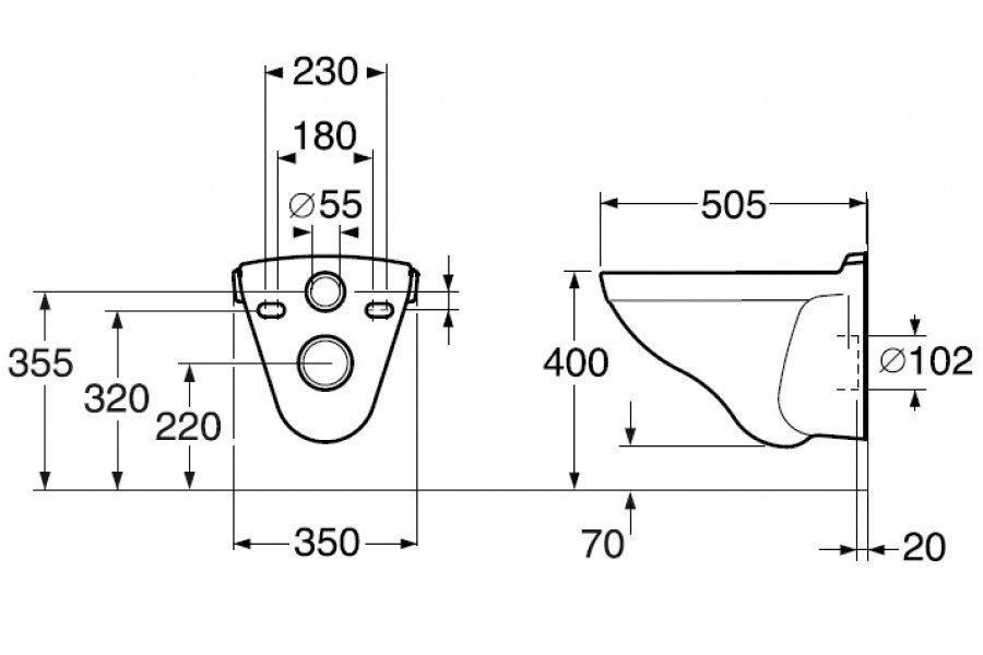 Подвесной унитаз Gustavsberg Logic (soft close)