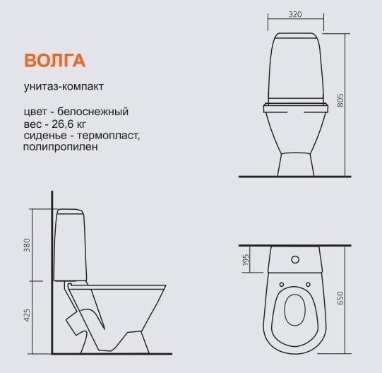 Унитаз-компакт Sanita Волга Комфорт soft close (микролифт)